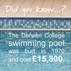 Donate to Derwen to help renovate the swimming pool. The Derwen College swimming pool was built in 1970 and cost £15800.