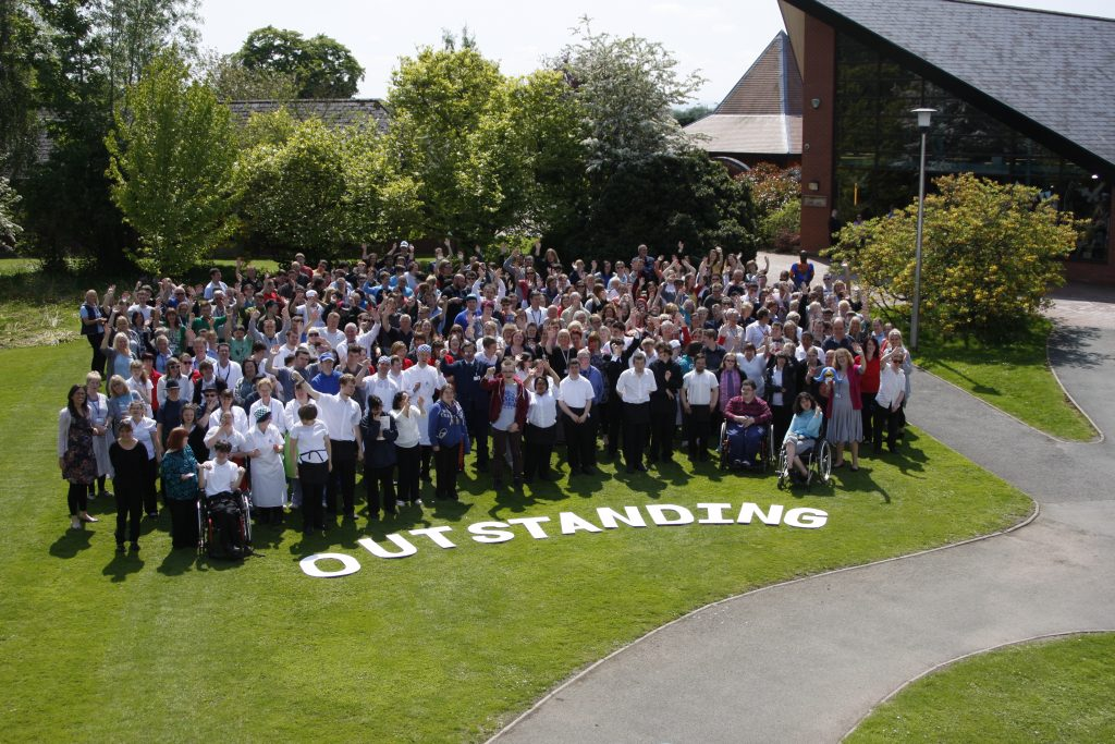 Derwen College receives third consecutive Ofsted Outstanding grading