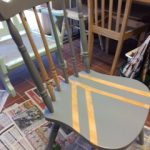 Upcycled kitchen chair at Ashdale House