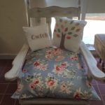 Upcycled chair at Ashdale House