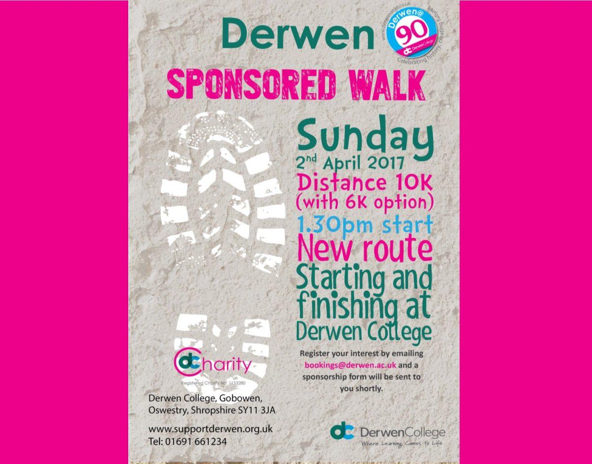 Derwen Sponsored Walk Information