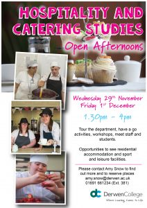 Hospitality & Catering Studies Open Afternoons