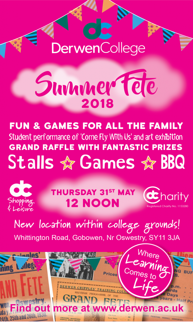 Derwen Summer Fete Thursday 31st May 2018