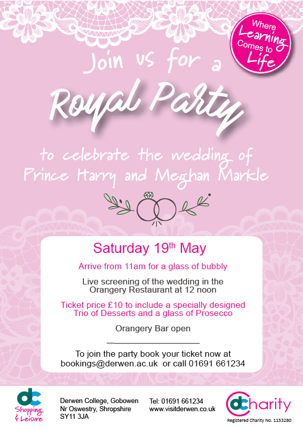 Royal Party at Derwen College Saturday 19th May