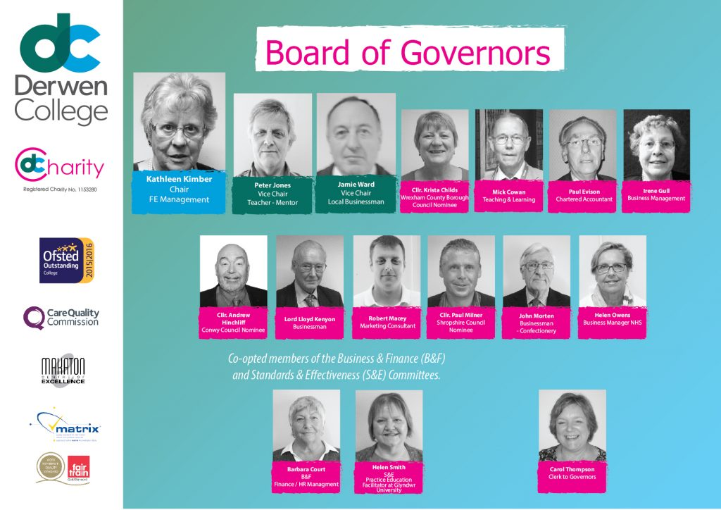 Board of Governors - Derwen College, April 2018