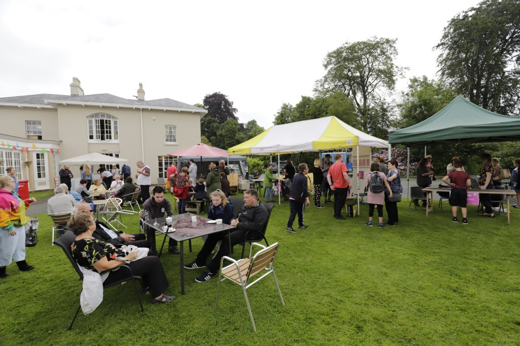 The Summer Fete was held outside the Orangery Restaurant