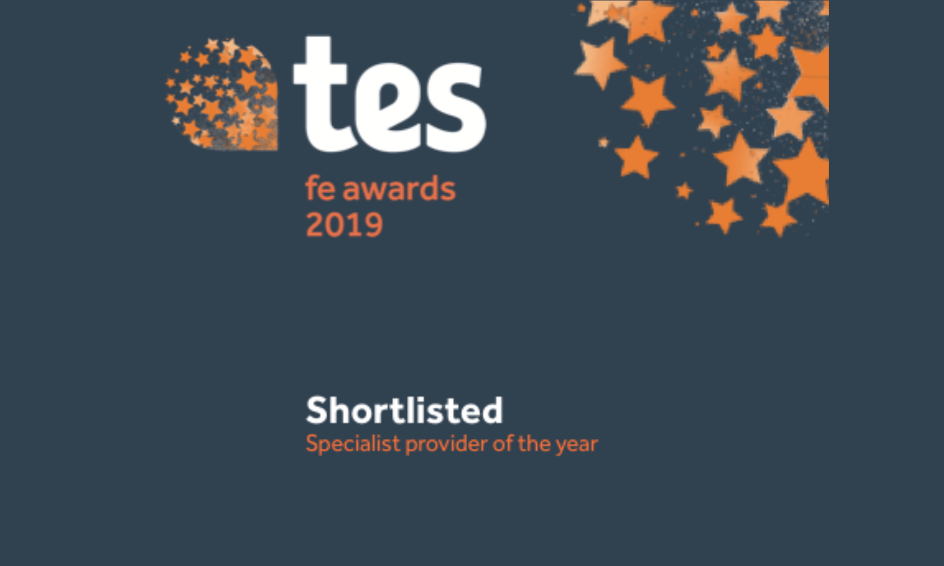 tes awards 2019 - Specialist Provider of the Year