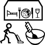 Makaton symbol for Hospitality & Housekeeping