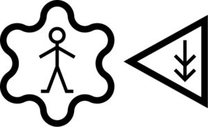 Makaton symbol for independent living skills