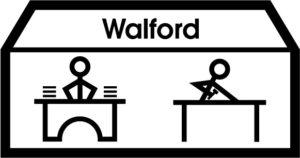 Makaton symbol for Derwen @ Walford