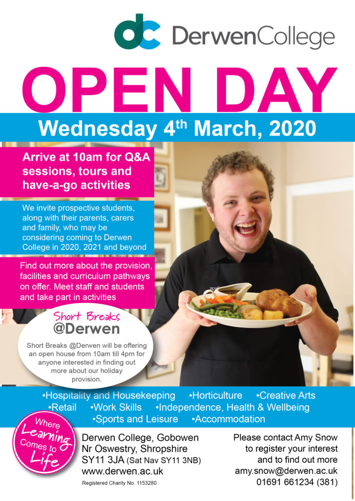 Open day March 4th 2020