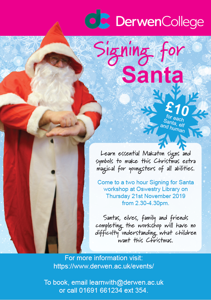 Signing for Santa poster