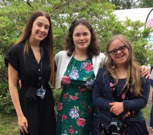 Next steps: Staff and two students at the DofE awards