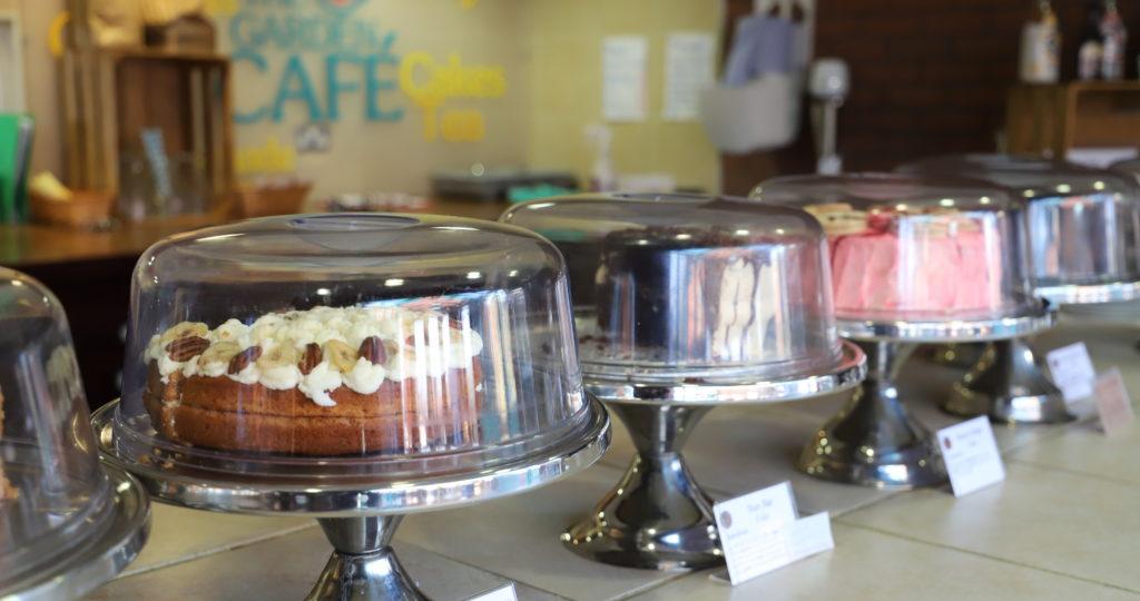 Homemade cakes at the Garden Cafe