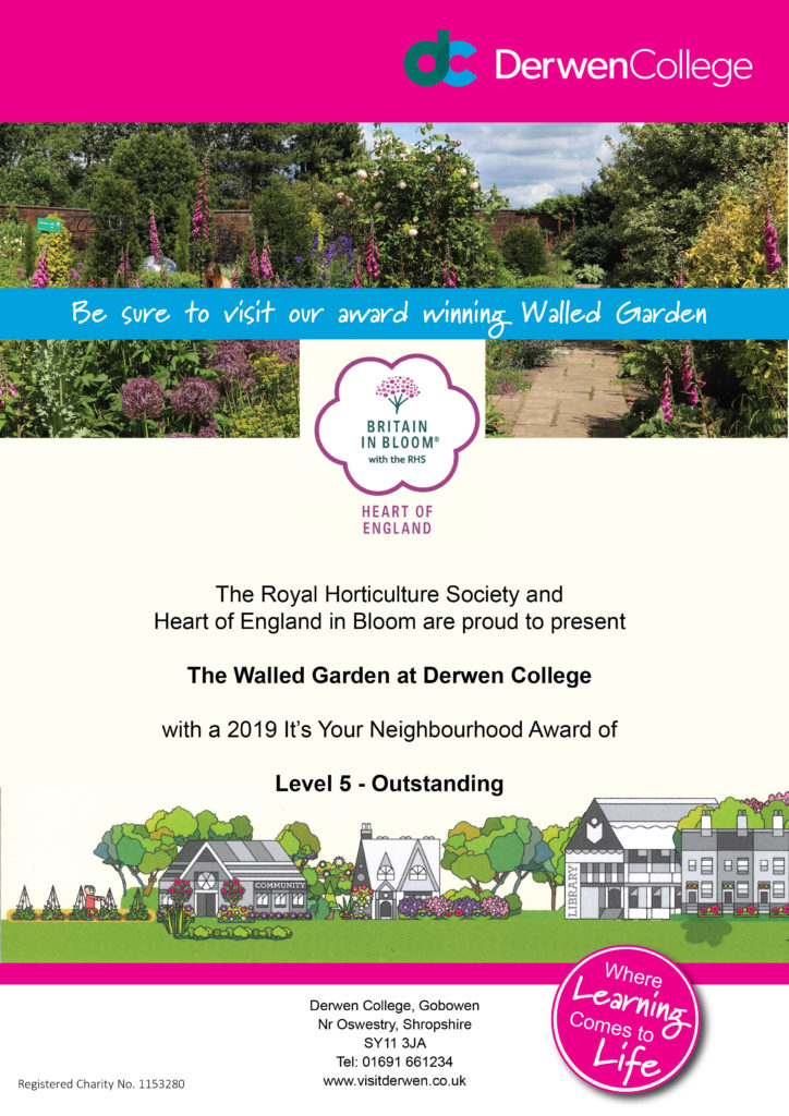 Award Winning Walled Garden certificate