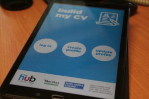 Derwen College CV Builder app developed with Hunter Bevan and Marches LEP funding