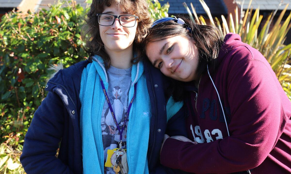 Two students from Derwen College.