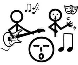Makaton symbol for Performing Arts