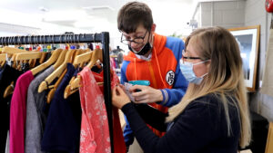 Retail and Enterprise Pathway - student at work in the Vintage Advantage
