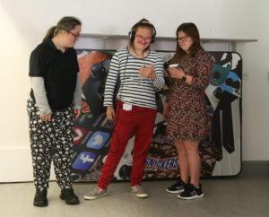 Derwen College students chatting